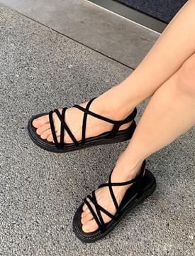 Slim Strap Cushion Banding Sandals