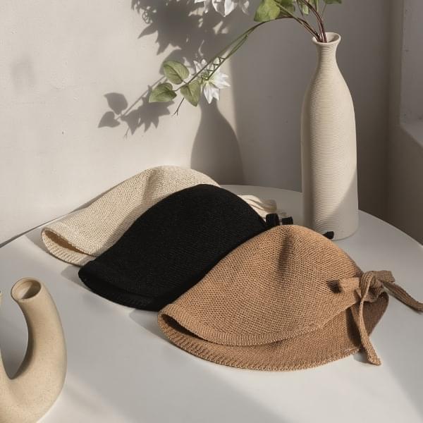 line bonnet bungee hat 3color
