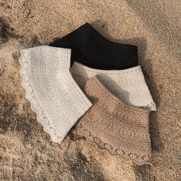 lace frill sun cap hat 4color