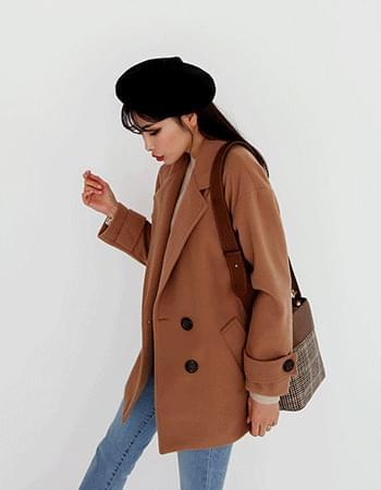 avenue #plain box coat