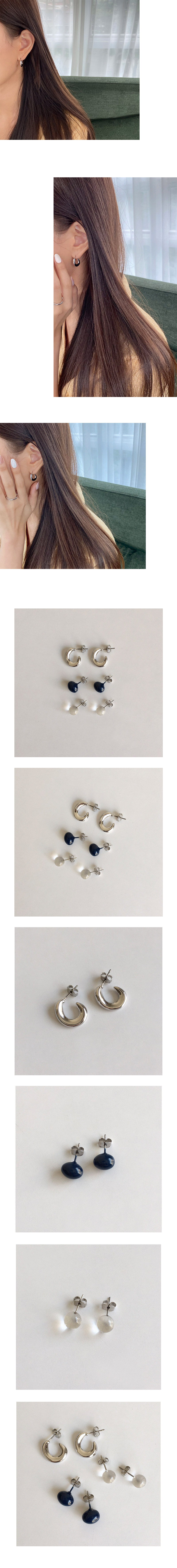 cool color earring set
