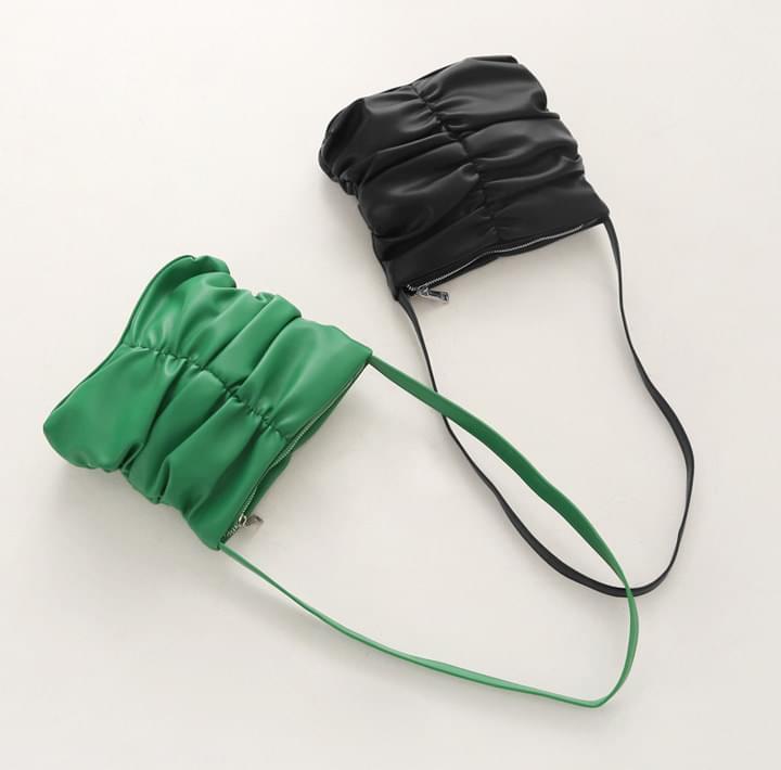 Ruched Mini Shoulder Bag