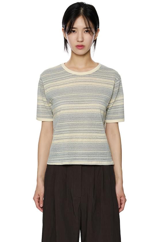 클락 믹스 스트라이프 티셔츠