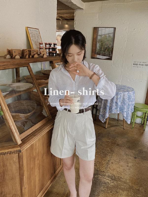 clear plain linen shirt