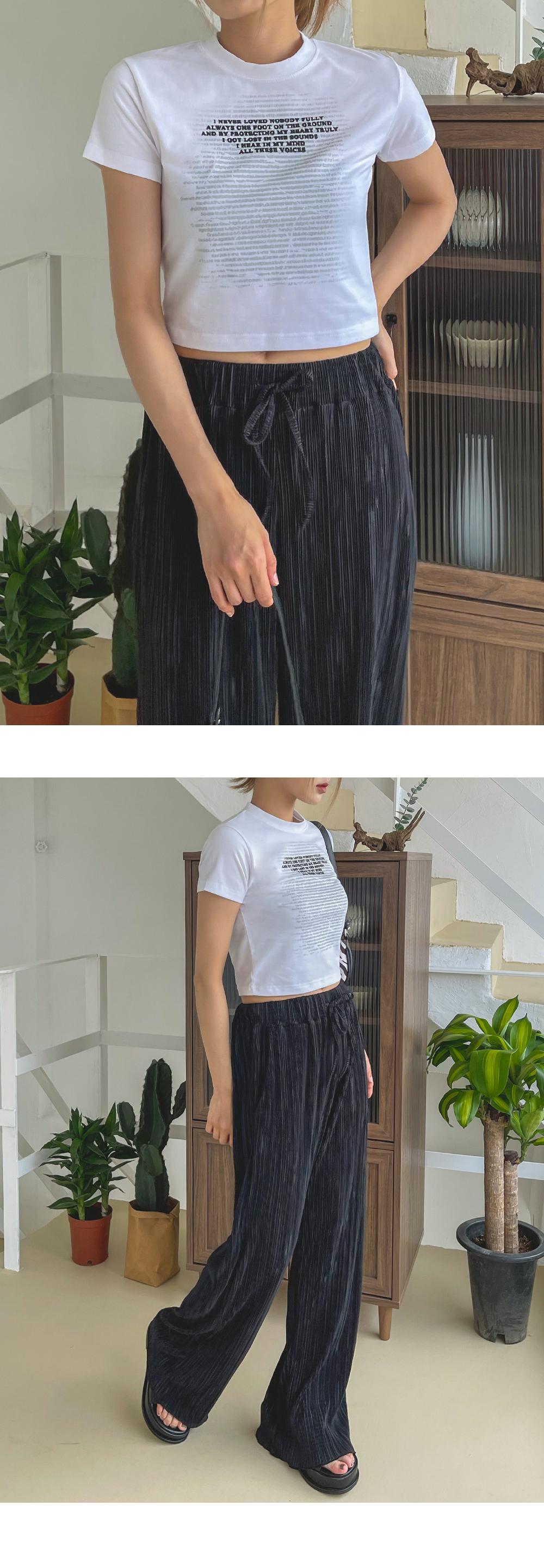 Kiken Lettering Short Sleeve Crop Tee