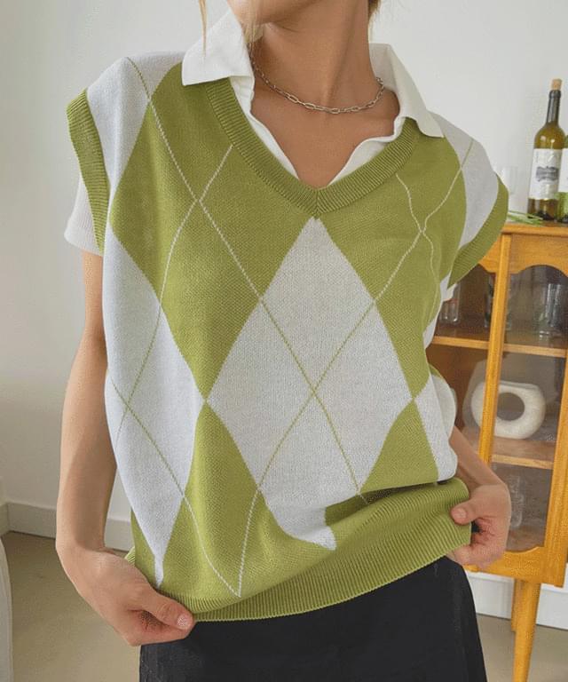Hadeler Argyle Summer vest