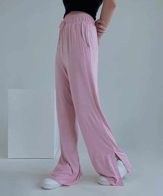 Sofia wide banding trousers