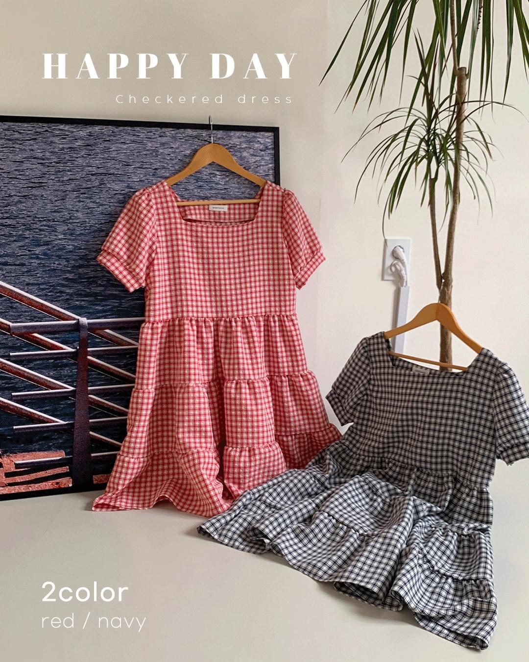 Happy Day Check Dress