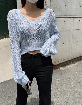 Tedin V-Neck Crop Knitwear