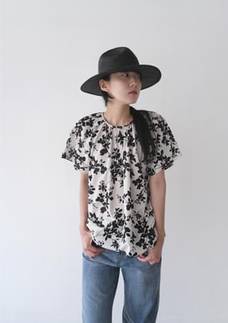 oasis shirring blouse