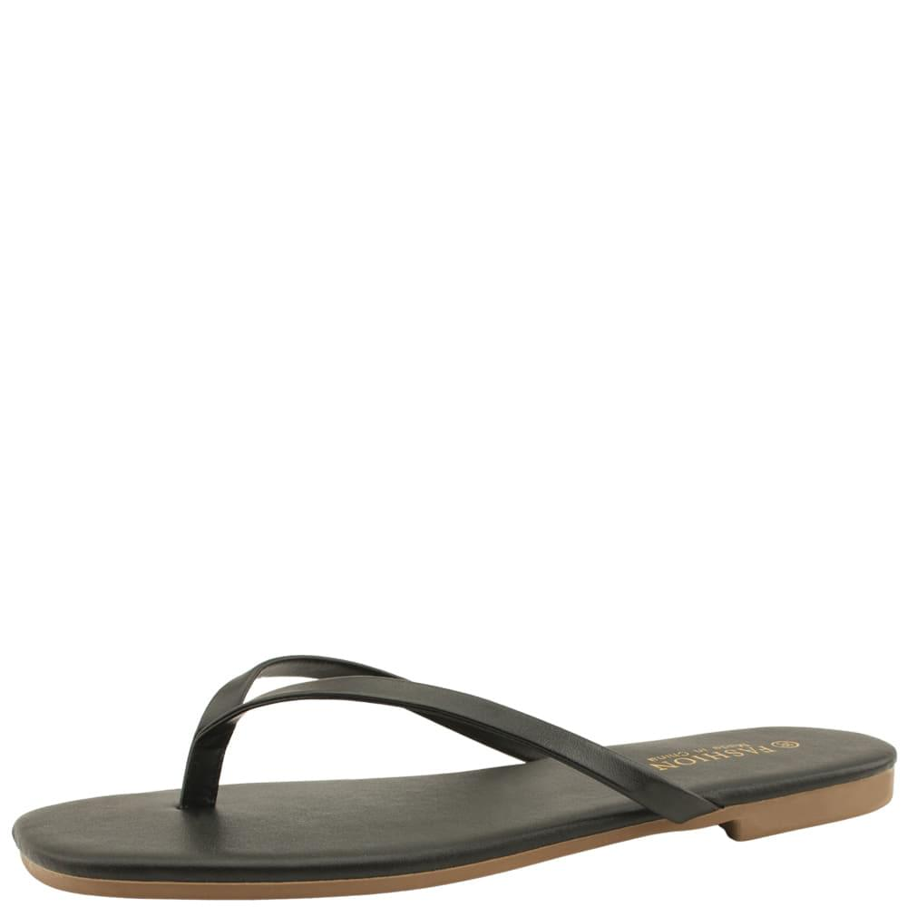 Basic Slim Daily Short Slippers Black