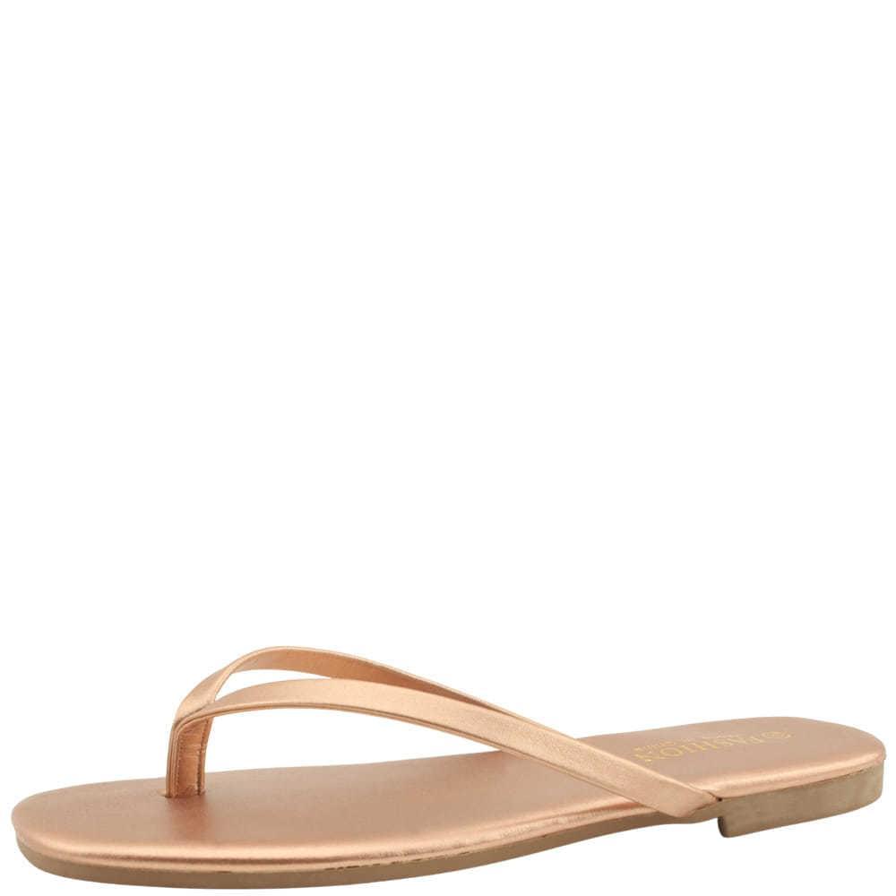 Basic Slim Daily Short Slippers Gold
