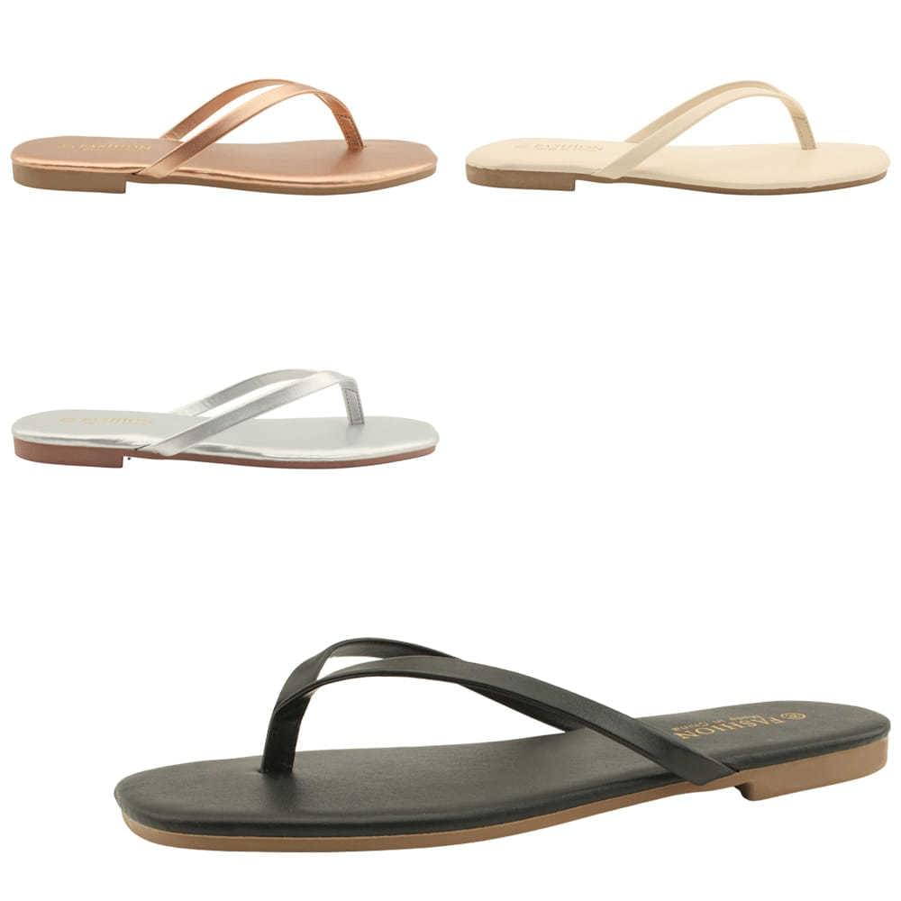 1+1 simple slim short slippers