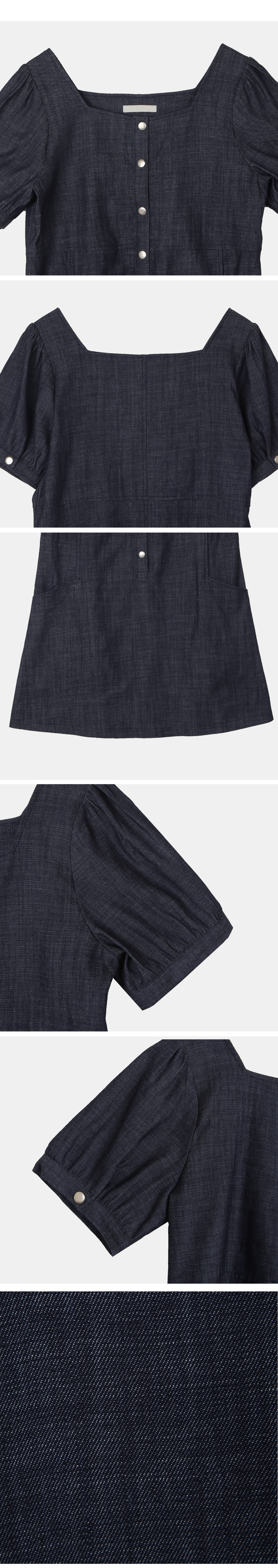 denim puff Dress