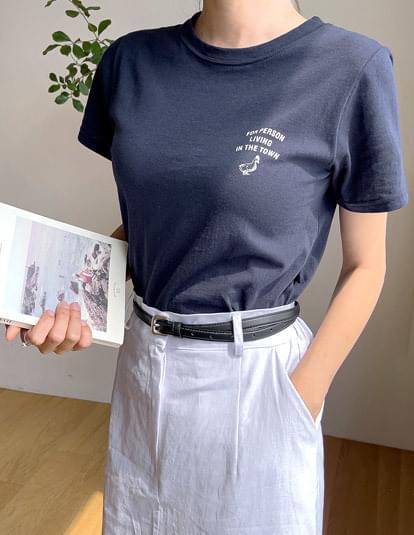 ducktown print short sleeve T-shirt