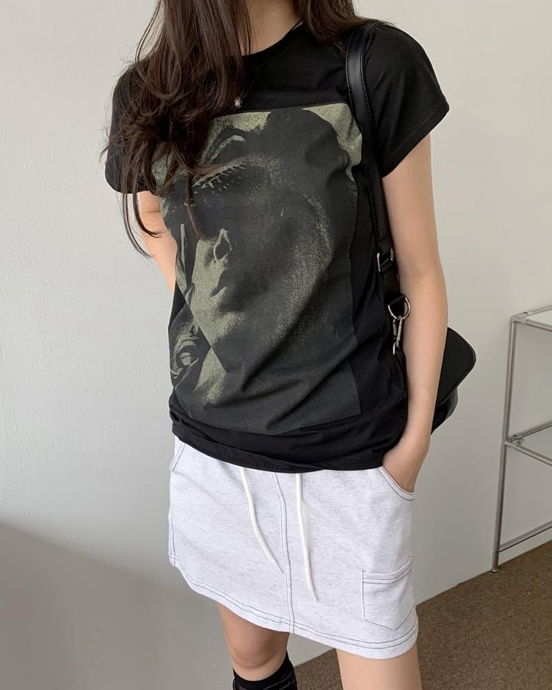 Hey Vintage Print Short Sleeve T-shirt 短袖上衣