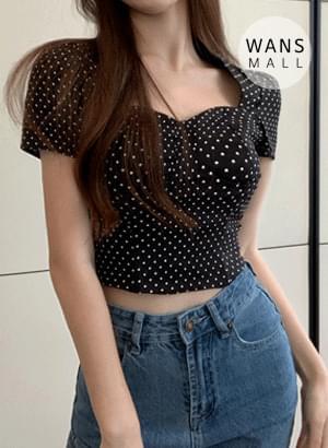 bl5370 pleated short sleeve blouse