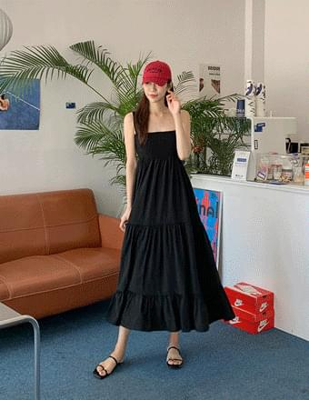 Double Bon* Smoke Sleeveless Long Dress