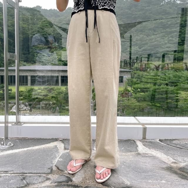 Mar Linen Wide Pants