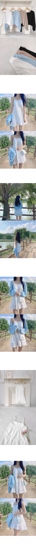 Yati Crop Bolero Cardigan + Joa Cancan Sleeveless Vacation Dress