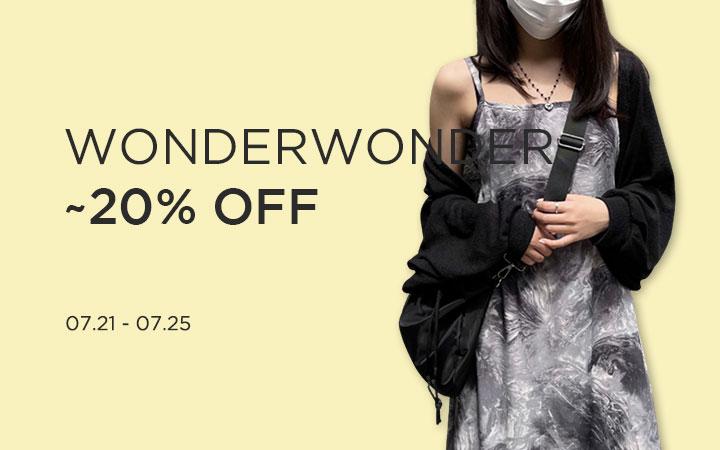 WONDERWONDER ~20% OFF