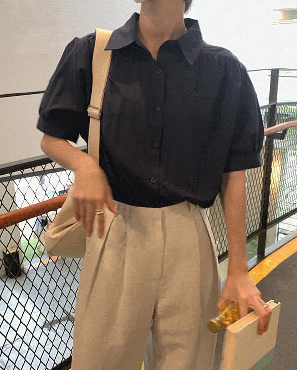 maison shirring shirt blouse