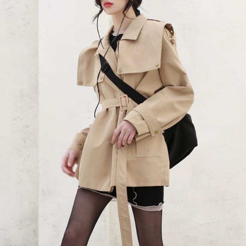 Vanilla Short Trench Dress Jacket