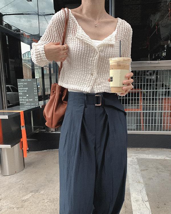 acro net round cardigan