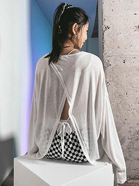 Back-open Haran Linen T-shirt