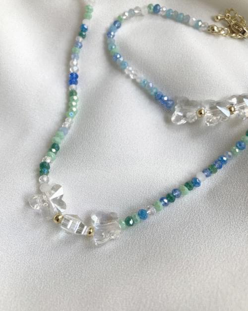 Kitten Butterfly Beads Bracelet Necklace Set - bracelet only