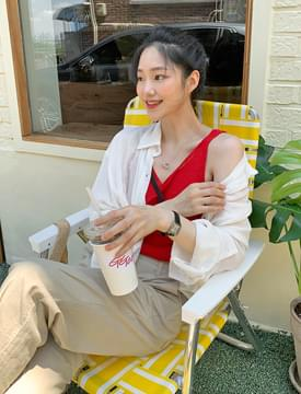 summer boucle sleeveless