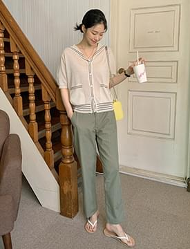 Modern Wide Straight Cotton Pants