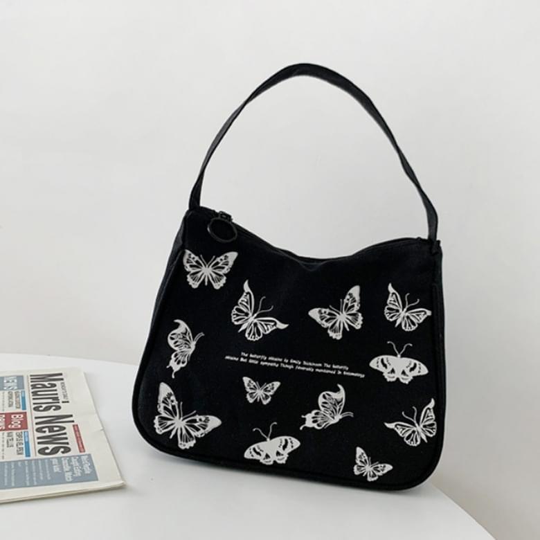 Leon Butterfly canvas mini square shoulder bag
