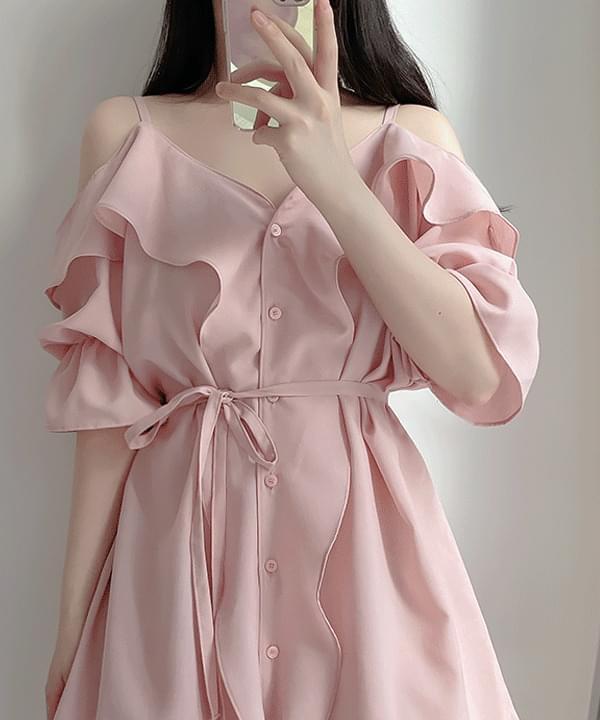 Cardion Bald Shirt Dress 2color