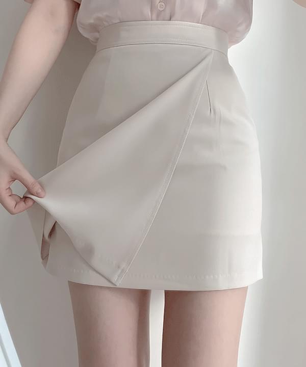 Ed Stitch Wrap Skirt 3color
