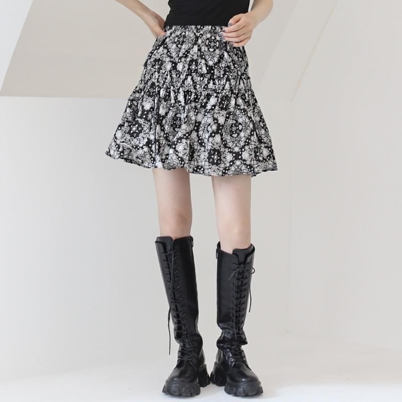 Future paisley mini skirt