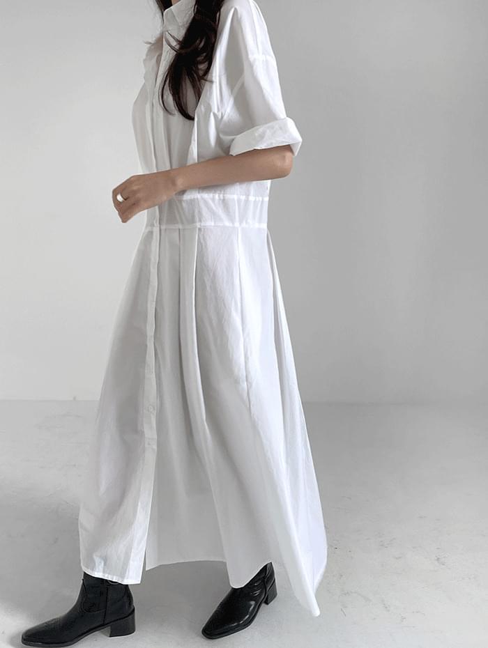 Fren Pintuck Long Dress