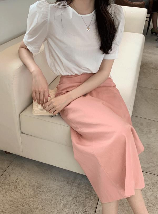 slim long skirt