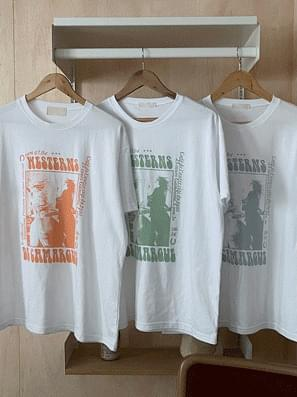 Our Horse Color Printing Short Sleeve Tee
