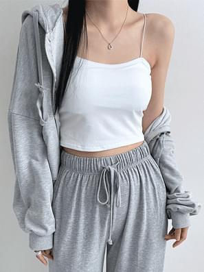 Basic Cotton Strap Top Sleeveless
