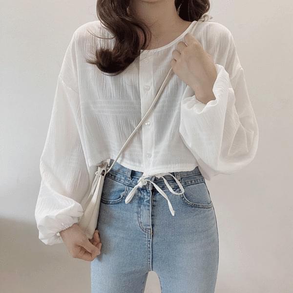 Origin cropped-string cardigan