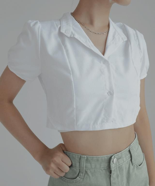 Theo puff Split chrome short-sleeved shirt