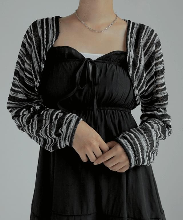 Adonis Striped bolero cardigan