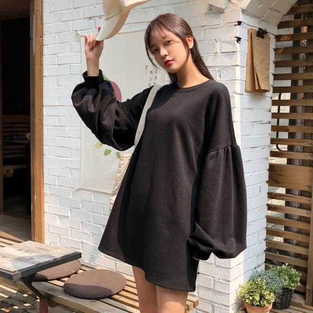 Puff sleeve loose fit dress