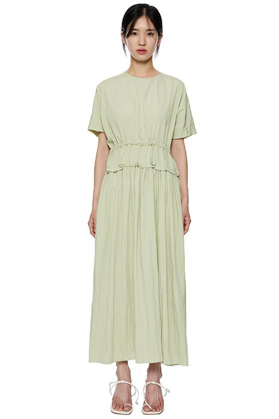 Rosie shirring paneled long dress