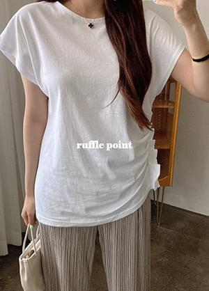 Cytin round neck ruffle Sleeveless