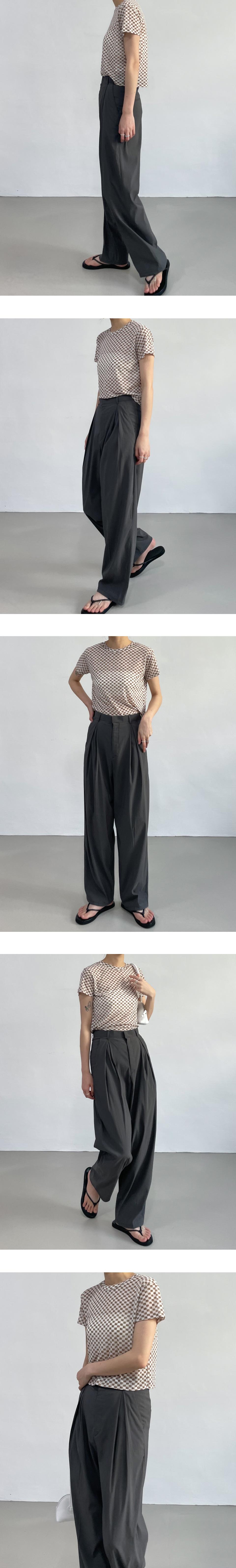 pleated long wide slacks