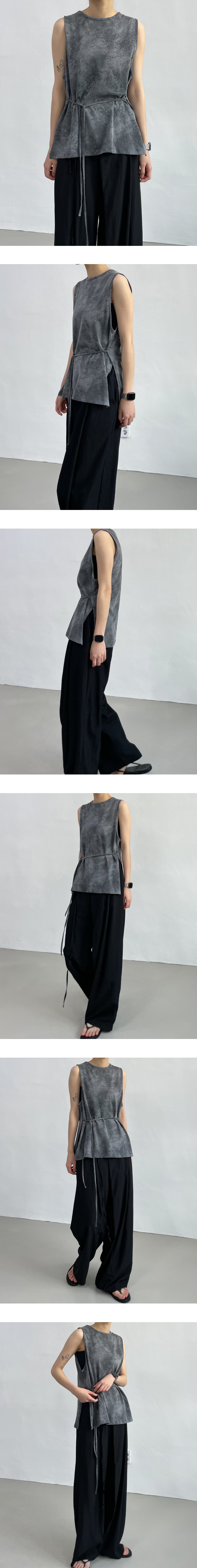 Bolt Printed Strap Sleeveless