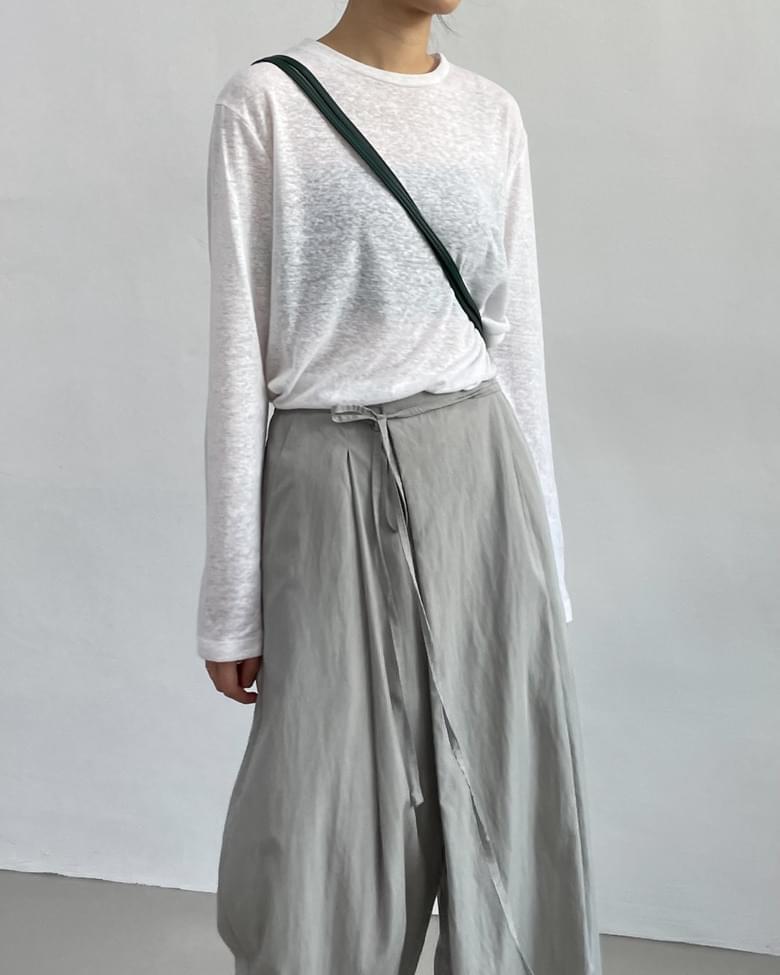 Summer Linen Long Sleeve T-shirt