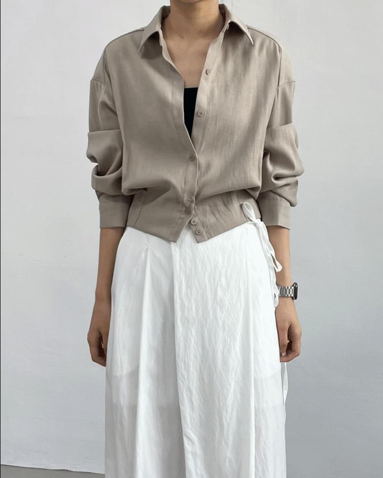breath pintuck short blouse